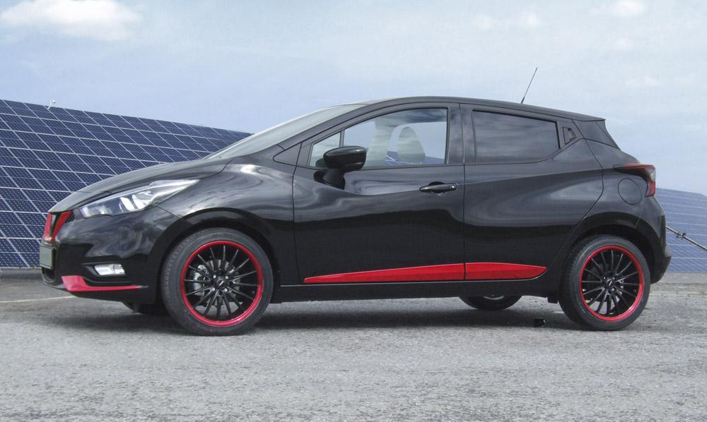 Tieferlegung Nissan Micra K14 bis Achslast V.A.855kg/H.A.765kg