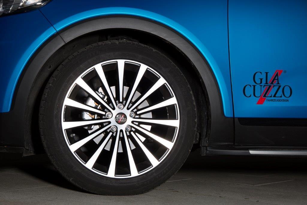 Komplettradsatz Hyundai Santa Fe DM Lumi-Line Schwarz-Matt Poliert