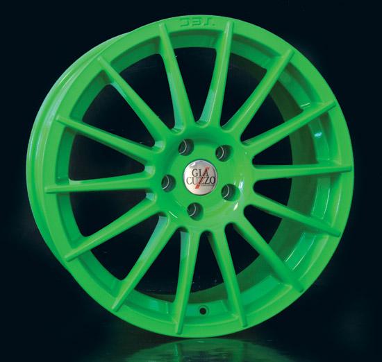 Komplettradsatz Multi-Line, grün, 19 Zoll