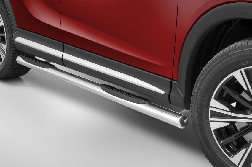 Seitenschwellerrohre Edelstahl mit Tritt - Mitsubishi Eclipse Cross GK0 76mm