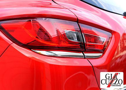 Rücklichtrahmenleisten Edelstahl Renault Clio IV